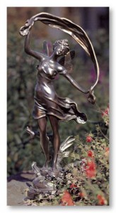 This bronze fairy would bring magic to any garden.