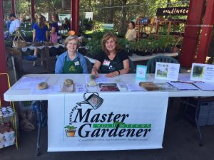 Extension Master Gardener Info Table at Buncombe County events and tailgate markets.