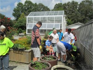 Raised beds improve access for gardeners with special needs.
