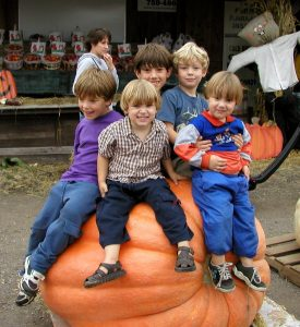 Five boys on a pumpkin_Jan Wright_CC BY 2.0_Flickr